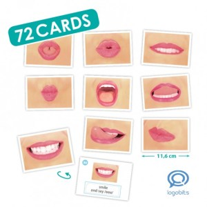 logo bits cards for oral motor speech therapy