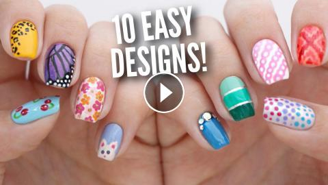 Today S Diy Nail Art Design Tutorial Is The Next Instalment In Our Easy Designs For Beginners Ultimate Guide Series We Are Sharing 10 Cute A