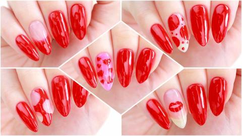5 Nail Art Designs Using Only 1 Polish