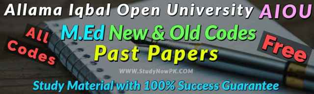AIOU MEd Code 843 Past Papers