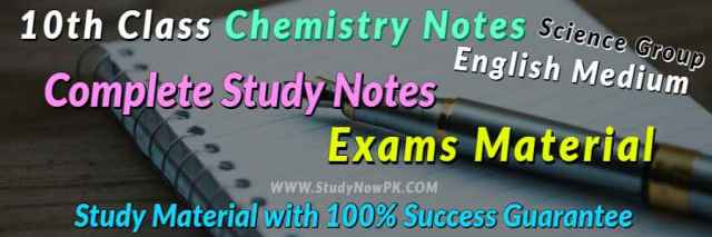 Download 10th Chemistry Notes English Medium of All Chapter