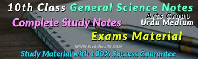 Download 10th General Science Notes Urdu Medium of All Chapters