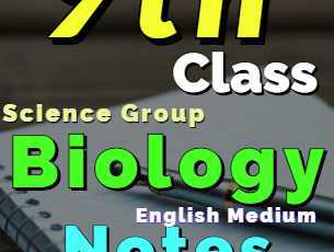 Download 9th Class Biology Notes English Medium of All Chapter fi