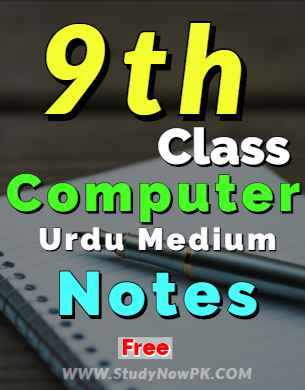 Download 9th Computer Notes Urdu Medium of All Chapters fi