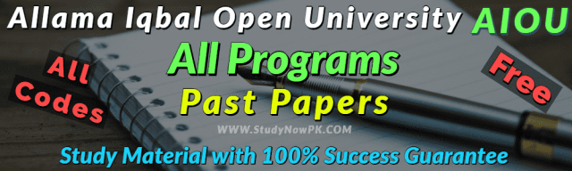 AIOU Past Papers of All Programs