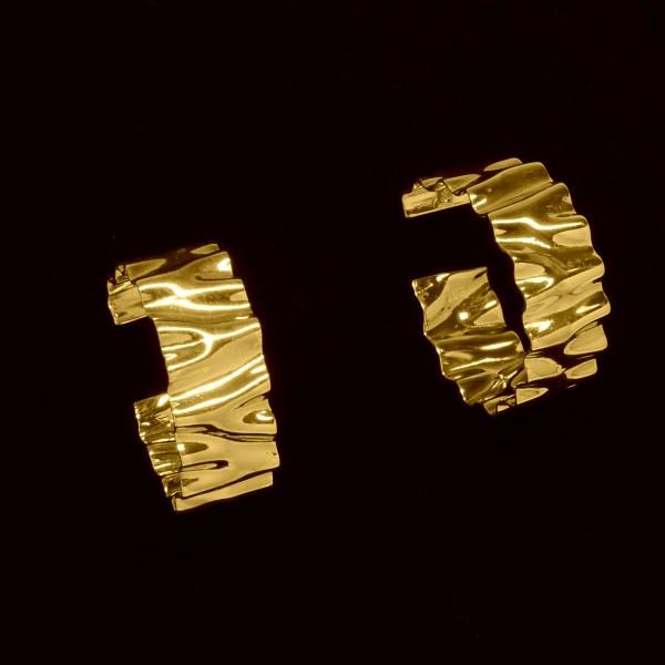Andes 14K yellow Hoop Earrings
