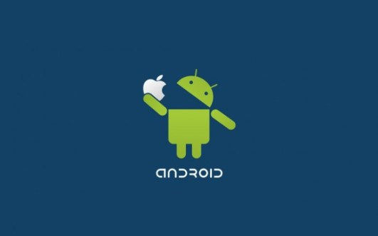 Android OS vs Apple iOS graphic