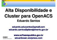Cluster-OpenACS-Encontro-2009
