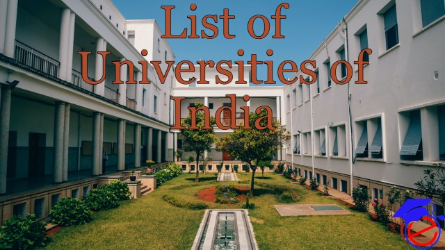 List of Universities in India 2021