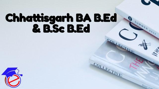 CG BA B.Ed/B.Sc B.Ed 2021