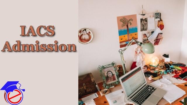IACS Admission