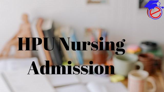 HPU M.Sc. Nursing 2021