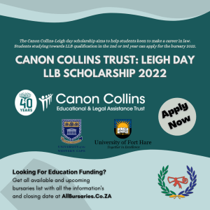 Canon Collins Trust Leigh Day LLB Scholarship