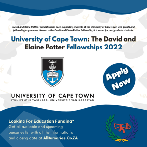 University of Cape - Town The David and Elaine Potter Fellowships