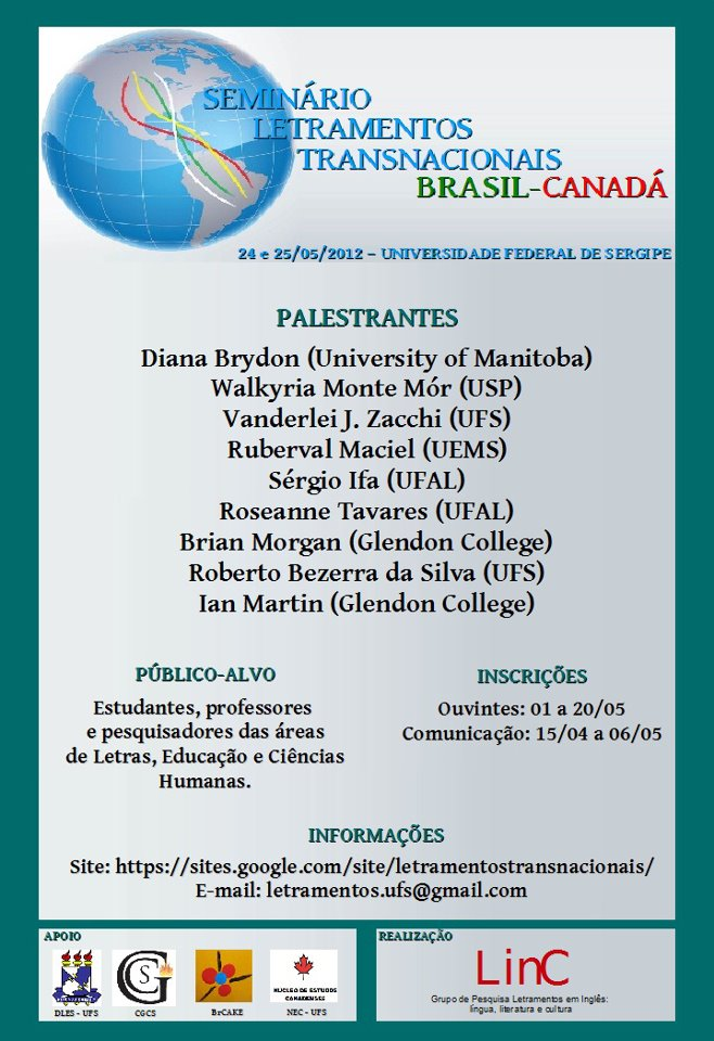 Seminário Letramentos Transnacionais Brasil-Canadá