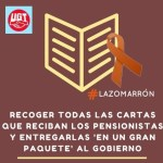 #PensionesDignas: UGT inicia una campaña para recoger y devolver al Gobierno las cartas que comunican la ridícula subida de las pensiones.