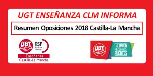 UGT informa: Guía de oposiciones 2018 Castilla-La Mancha. Resumen detallado de todo el proceso.
