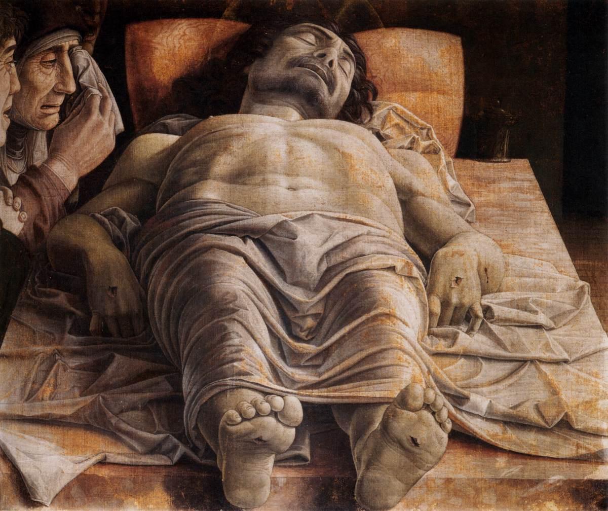 Andrea Mantegna, Lamentación sobre Cristo muerto.