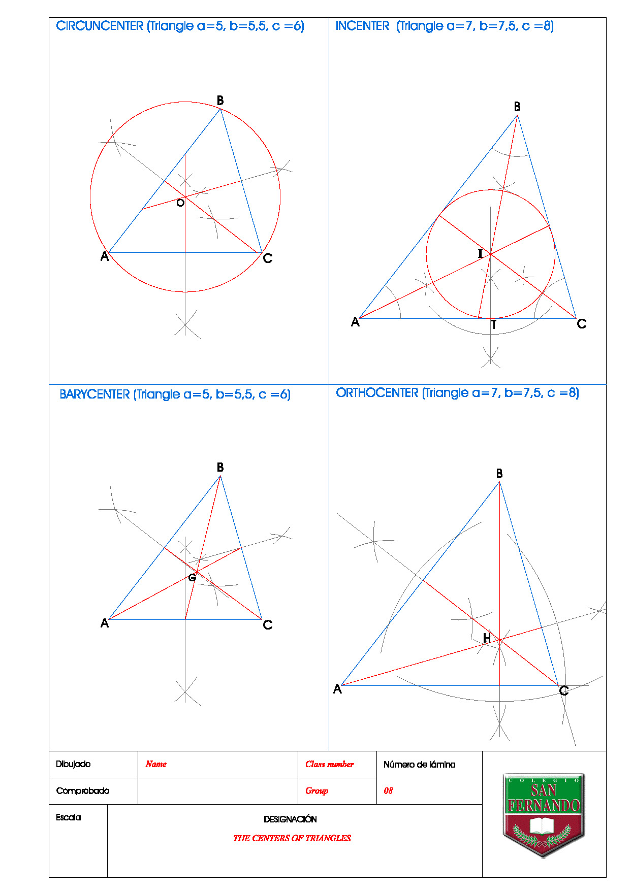 Exercise 06 Centers Of Triangles