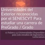 Universidades Extranjeras Reconocidas por el SENESCYT