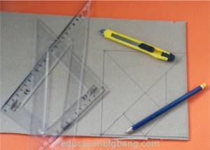 Tangram dibujado sobre cartón