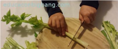 Cortando el apio
