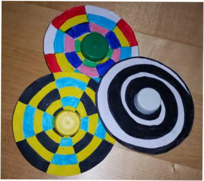 Peonza con cd mezcla de colores experimentos para ni os - Mezcla de colores para pintar ...