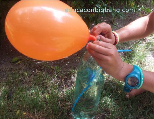 Colocando el globo