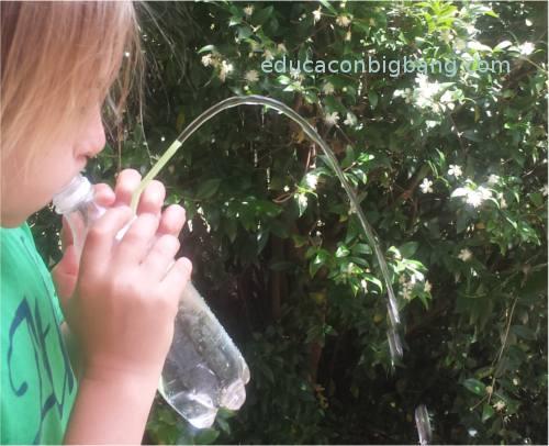 Fuente funcionando a pulmón