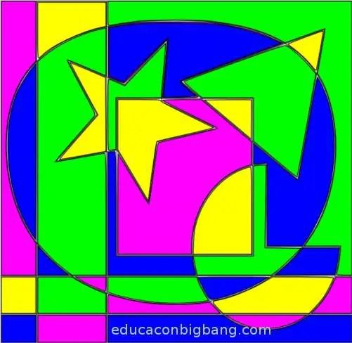 Diseño que usa 4 colores
