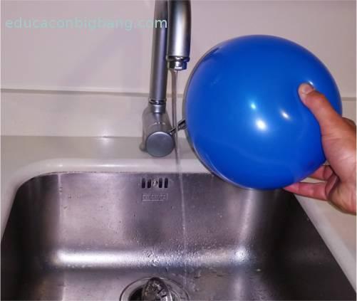 Chorro de agua desviado