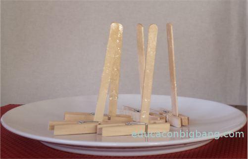 Palitos de helado bañados en almíbar
