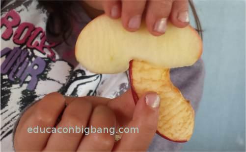 Manzana con limón y sin tratar