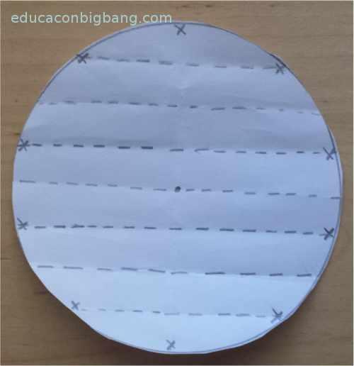 dividir un circulo en 10 partes iguales doblando papel 4