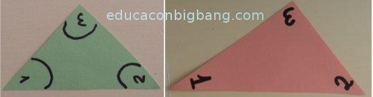 Diferentes triángulos
