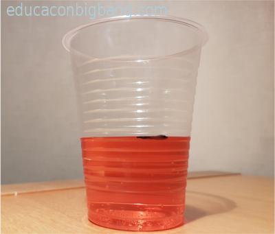 Nivel de agua marcado