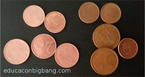 monedas antes y después del tratamiento