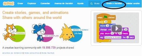 Únete a Scratch captura de pantalla