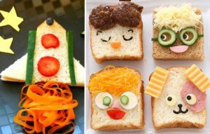 sanduíches divertidos