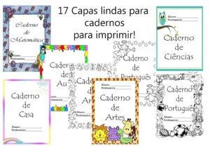 9 Modelos De Capas Para Cadernos Coloridas Para Imprimir Educa