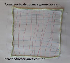 formas geométricas com cordão