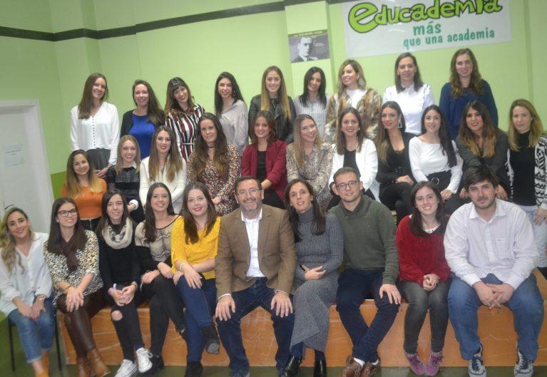 equipo profesional Educademia navidad 2018