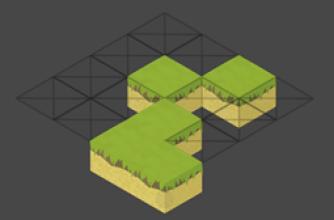 Mapa tiles hecho con editor de Unity tamaño 4
