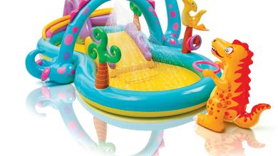 piscinas con castillo inflable