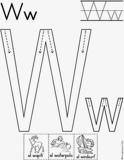 Imagenes con W en español para niños   Material para ...