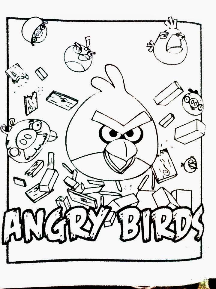 Dibujos de Angry Birds para COLOREAR   Material para maestros ...