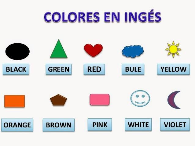 Los colores en ingles y español para niños   Material para ...