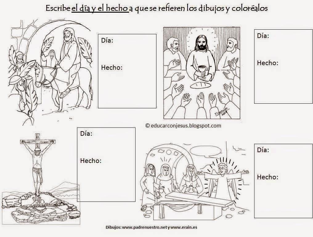 Dibujos Colorear Semana Santa Infantil: Semana Santa Imágenes Para Colorear O Pintar