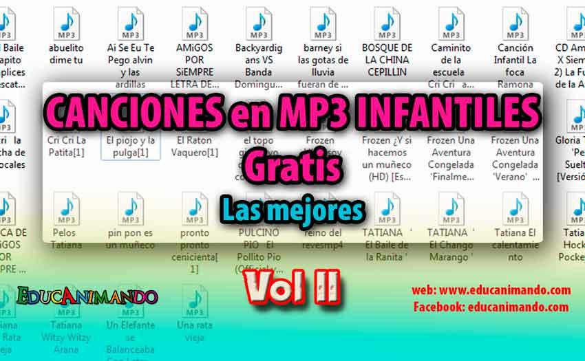50 CANCIONES en MP3 INFANTILES pack II Gratis