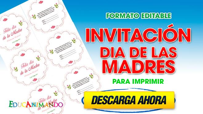 Invitación A Celebración Día De La Madre: Invitaciones Dia De Las Madres Para Personalizar